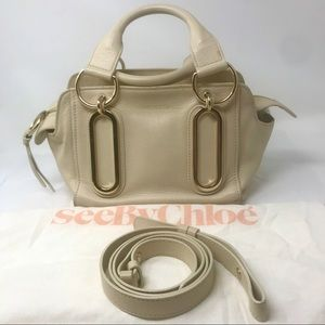 See by Chloé Nude Leather Paige 2-Way Satchel